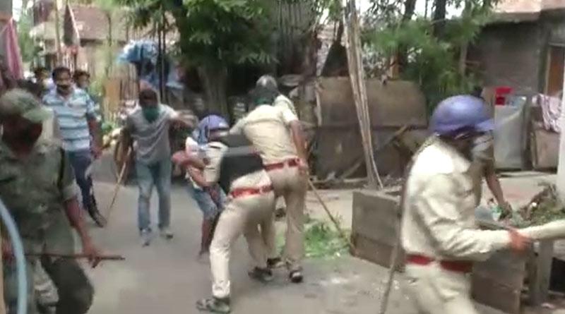 Massive clashes at Kamarhati on food distribution, one seroiusly injured