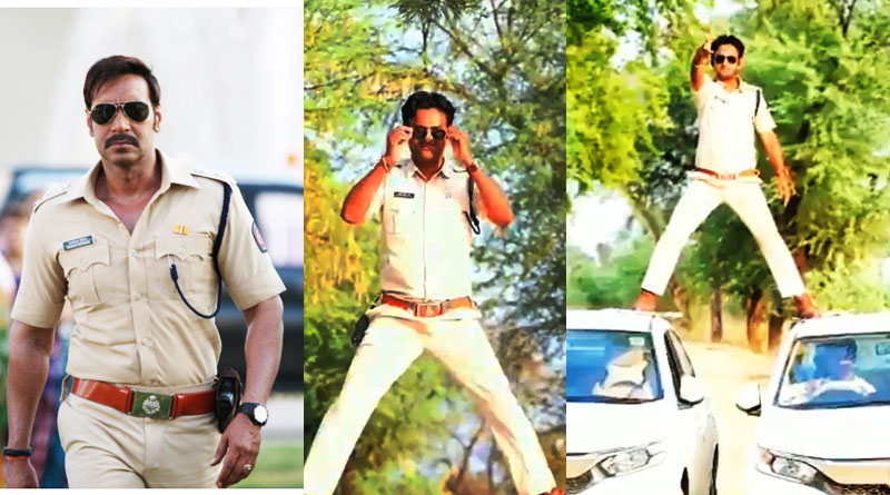 Madhya Pradesh's Cop performs Ajay Devgn's, fined five thousand rupees