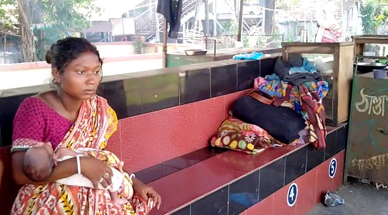 Woman gave birth child, strays for 5 days at Empty Station