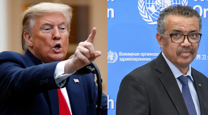 US President sends letter to WHO Chief, threating over stop funding parmanently
