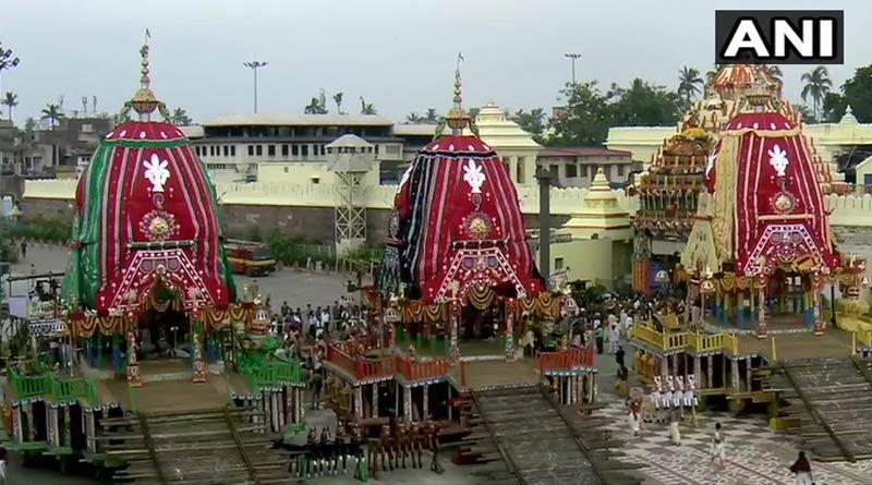 Rath Yatra from Jagannath Temple in Puri