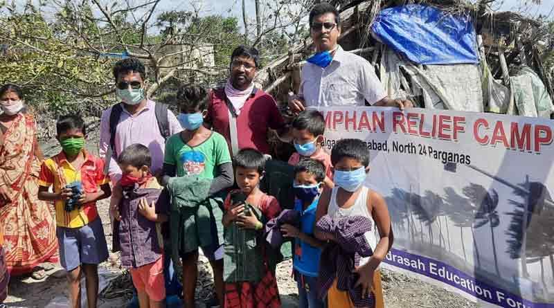 Bengal Madrasa Education Forum helps Amphan devastated family