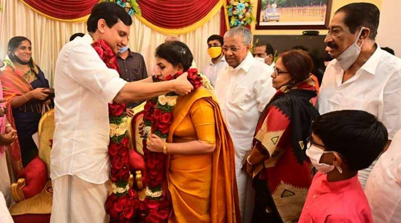 Daughter of Kerala's communist CM marries socially, sparks questions