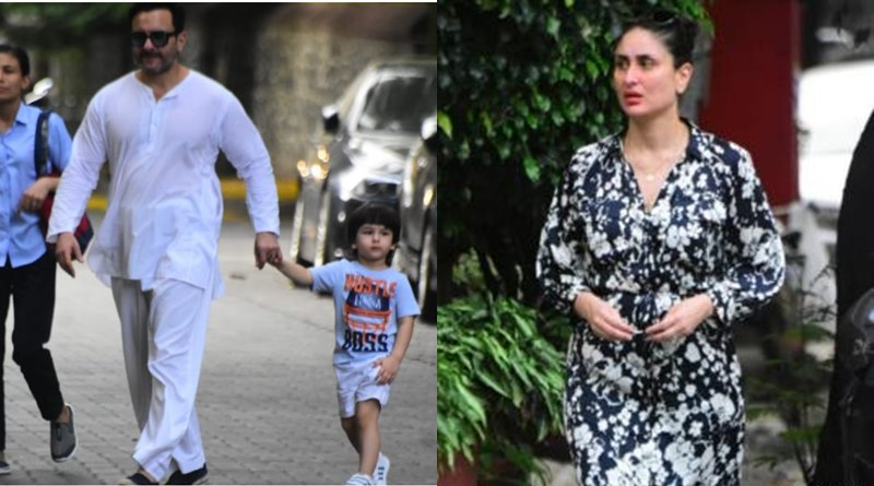 Kareena and Saif trolled for going Marine Drive with Taimur without masks