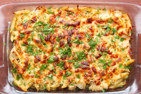 Baked-Chicken-Chesse-Pasta
