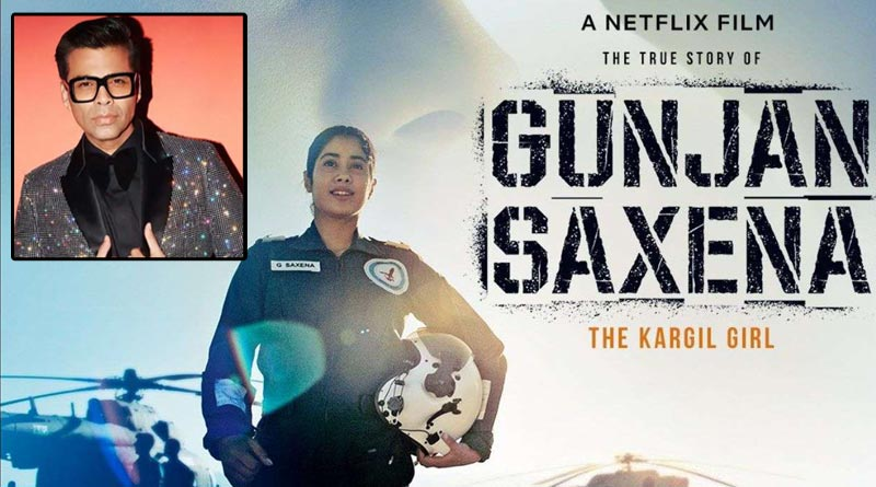 Producer Karan Johar's name is missing from 'Gunjan Saxena's trailer