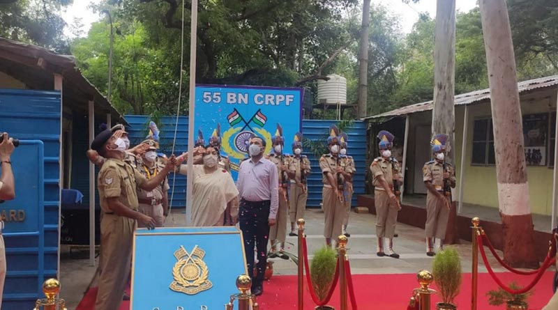 Locket Chatterjee paid a spontaneous visit to 55 Bn CRPF in Chanakyapuri