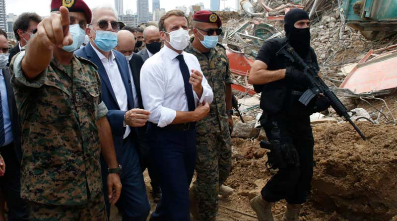Macron calls for 'deep change' in Lebanon after blast