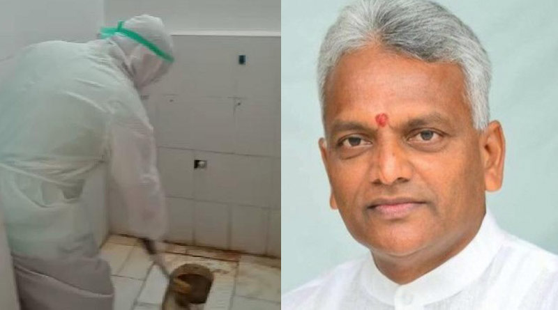 Puducherry Health Minister Cleans COVID hospital's Toilet, Viral Video