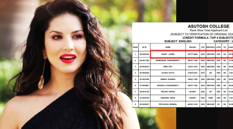 Sunny Leone twwets back regarding her name in Asutosh College row