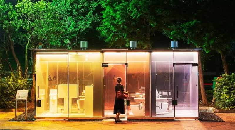 Transparent and colourful public toilets in Tokyo, picture goes viral