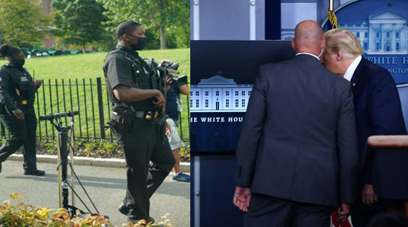Trump leaves coronavirus briefing after shooting near White House