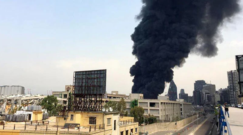 Beirut: Fire breaks out at site of deadly explosion