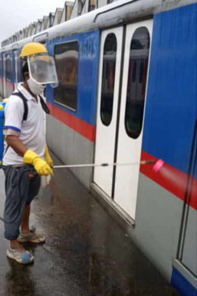 Metro-sanitised