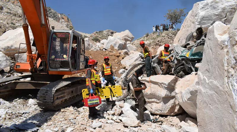Pakistan marble mine collapse kills at least 22, many trapped