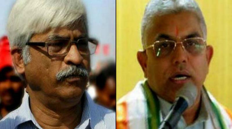 CPM MLA Sujan Chakraborty slams Dilip Ghosh over Corona cure| Sangbad Pratidin