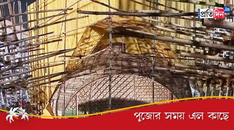 Theme of this year Durga puja of Barisha Sarbojanin Durgotsab Samity is transformation   Sangbad Pratidin