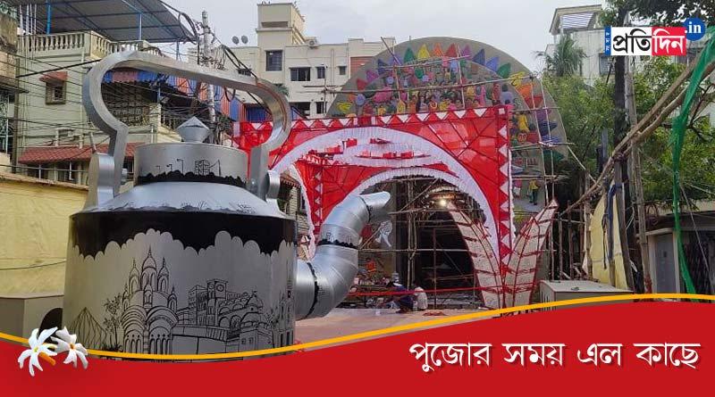 Theme of this year Durga puja of Dum Dum Park Bharat Chakrais awakening of Kolkata   Sangbad Pratidin