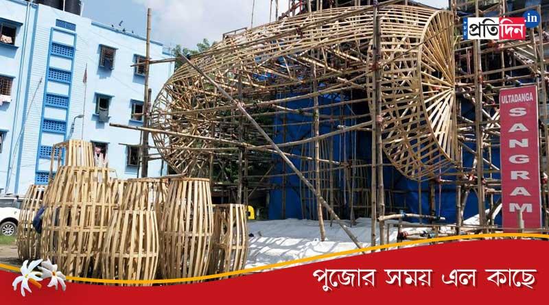 Bengali News: Theme of this year Durga puja of Ultadanga Sangrami is Dhak   Sangbad Pratidin