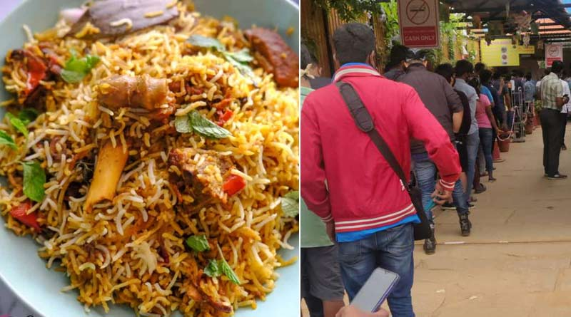 Bangla news biryani love: Karnataka People queue up at an eatery in Hoskote to buy biryani, see video| Sangbad Pratidin