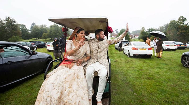 Indian-Origin Couple's Drive-In Wedding To Avoid Covid Guest Limit Rule In UK  Sangbad Pratidin