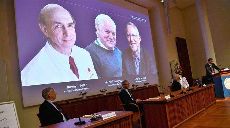 World news in Bengali: Harvey J Alter, Michael Houghton and Charles M Rice win Nobel medicine prize | Sangbad Pratidin