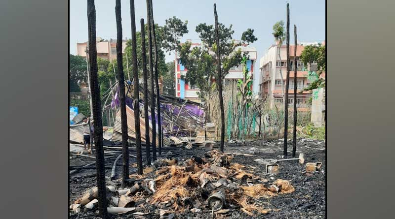 How the mandap of salt lake caught fire? Investigation Started | Sangbad Pratidin