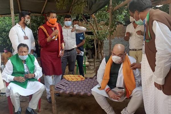Amit Shah & Mukul Roy in Bankura