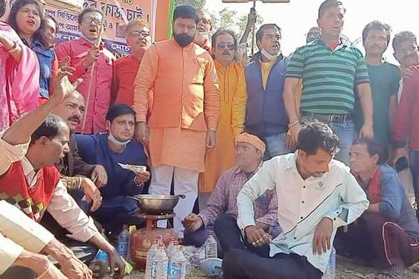 Durgapur BJP stage protest against state govt