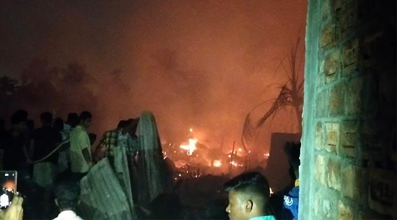 Massive fire broke out in Newtown ।Sangbad Pratidin
