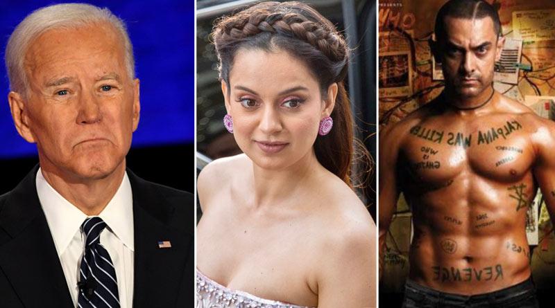 Actress Kangana Ranaut compares Joe Biden with Aamir Khan's Ghajini character   Sangbad Pratidin