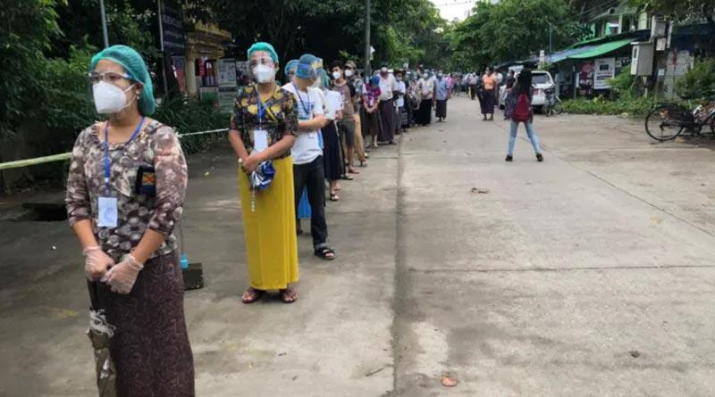 Myanmar votes amidst corona crisis, violence feared in Rakhine state | Sangbad Pratidin
