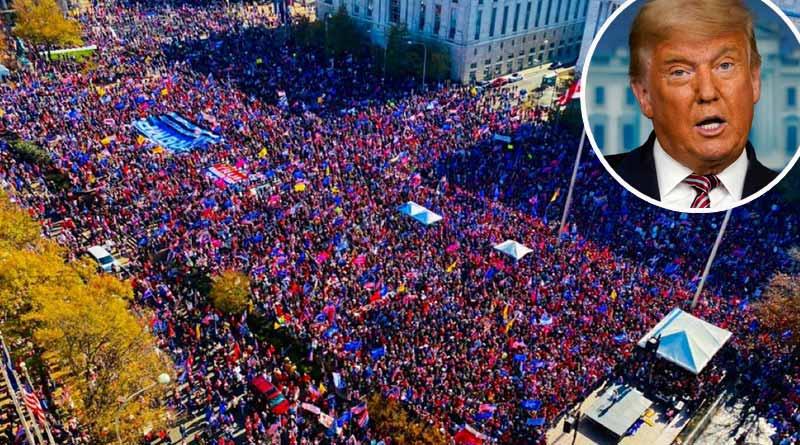 USElection 2020: Thousands rally behind Donald Trump demanding his win |Sangbad Pratidin