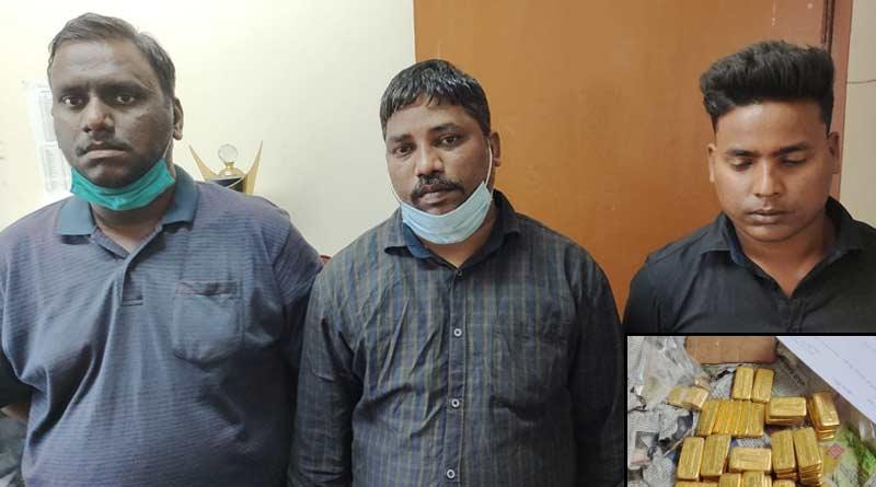 3 arrested for smuggling gold in belt | Sangbad Pratidin