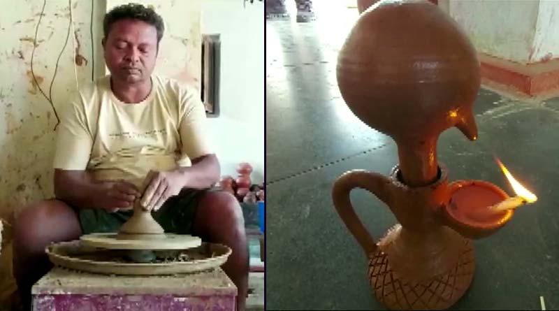 Bangla News on Diwali 2020: Chhattisgarh Potter makes 'Magic Lamps' that goes viral, flooded with orders | Sangbad Pratidin