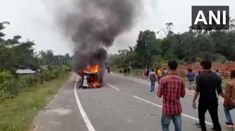 Violence in Tripura over over Bru rerfugee issue | Sangbad Pratidin