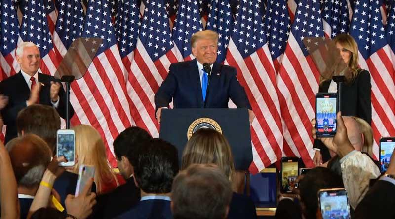 US Presidential Election 2020: Donald Trump declares victory | Sangbad Pratidin