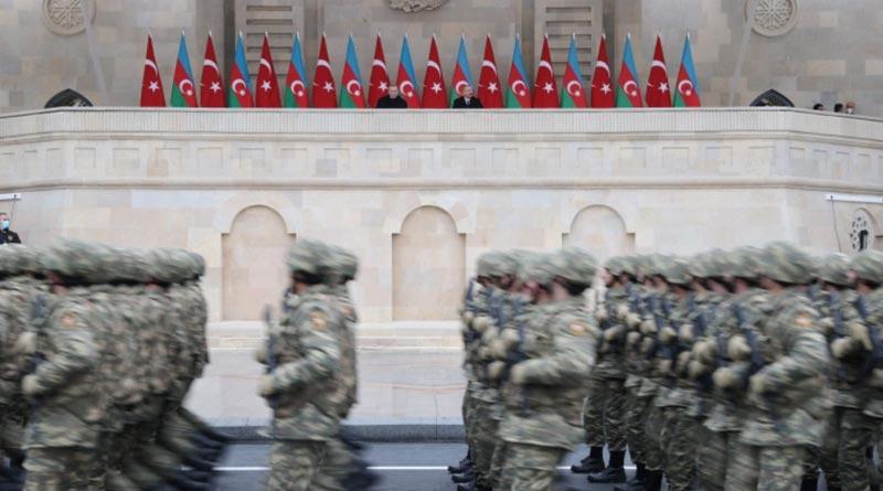 Azerbaijan celebrates victor in Nagorno-Karabakh war | Sangbad Pratidin