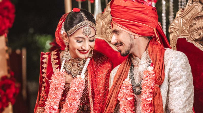 Indian spinner Yuzvendra Chahal marries fiancee Dhanashree Verma   Sangbad Pratidin