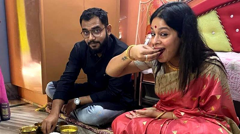 Singer Iman Chakraborty's wedding rituals with Aiburobhaat alongside beau Nilanjan Ghosh   Sangbad Pratidin