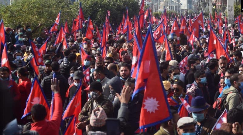 pro-monarch-march-in-Nepal