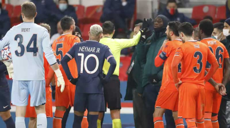 PSG, Istanbul Basaksehir players walk off after alleged racism by match official | Sangbad Pratidin