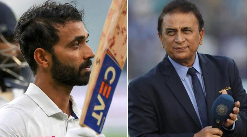 Sunil Gavaskar thinks Ajinkya Rahane's century is very important iIn History of Indian Cricket   Sangbad Pratidin