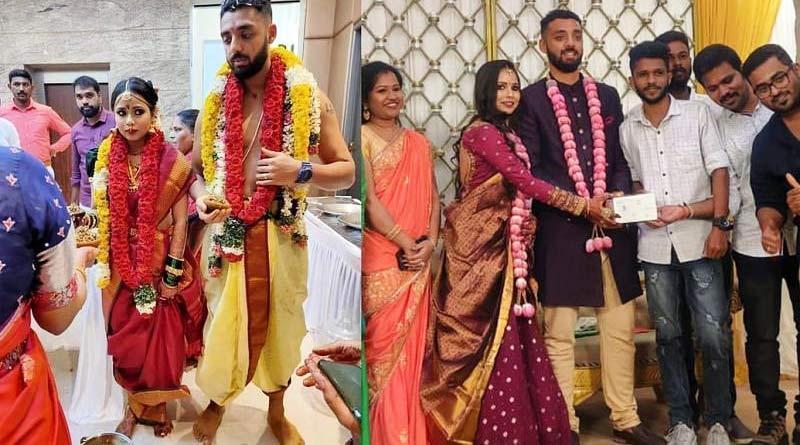 KKR's spinner Varun Chakravarthy got hitched with long-time girlfriend Neha Khedekar | Sangbad Pratidin