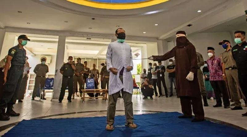 Indonesian gay couple flogged 80 times each for Sharia   Sangbad Pratidin