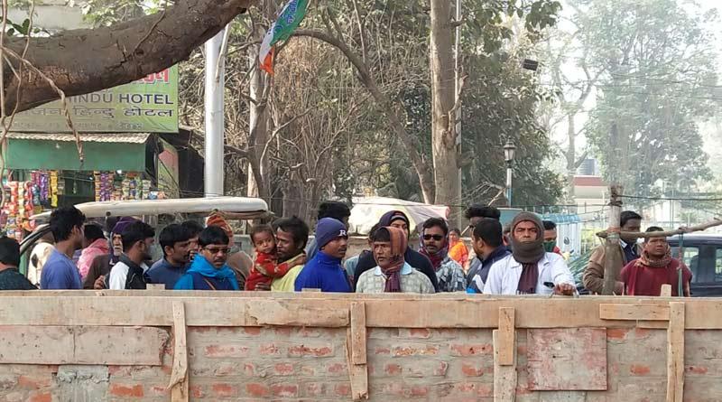 Bolpur Municipality stops Vishva Bharati of making wall sparks new row |SangbadPratidin