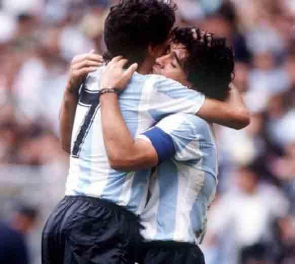Maradona hugged burruchaga