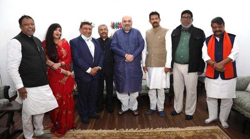 Rajib Banerjee, Baishali Dalmiya, Rudranil Ghosh and 3 others join BJP in Delhi | Sangbad Pratidin