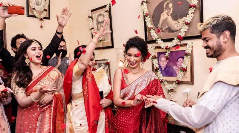 Actress Ritabhari Chakraborty's sister actress Chitraganda Chakraborty got engaged   Sangbad Pratidin