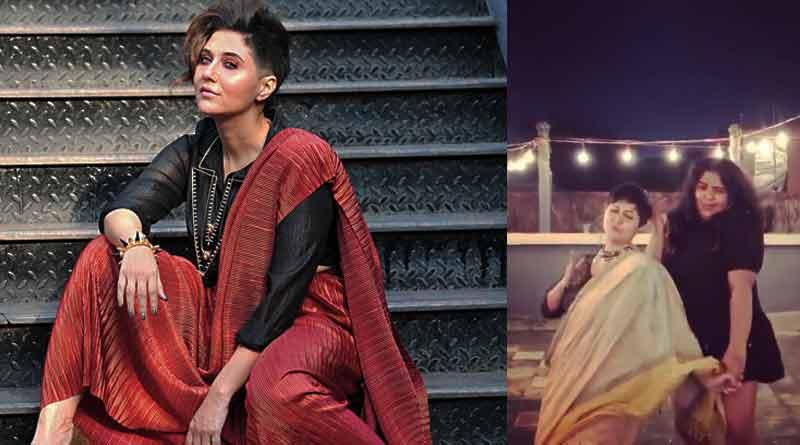 Swastika Mukherjee dances with her favourite Tip Tip Barsa pani song | Sangbad Pratidin